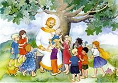 Jeesus siunaa lapsia (20 kpl)